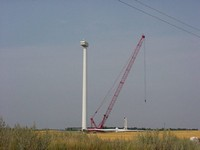 The nacelle sits on top of the third section. Aug. 20, 2003.